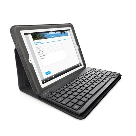 The new, $99 Belkin Keyboard Folio for iPad 2, announced Aug. 5. (Photo courtesy of Belkin)