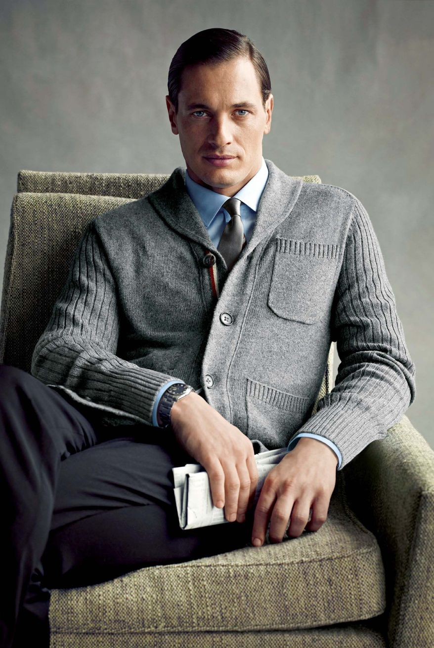 """PHOTOGRAPHS FROM BANANA REPUBLIC VIA ASSOCIATED PRESS The dapper Don Draper of AMC's hit TV show """"Mad Men"""" has helped inspire a line of men's clothing. """"It's about good tailoring, it's bon ton, and a little more buttoned up and polished,"""" says Simon Kneen, creative director for Banana Republic."""