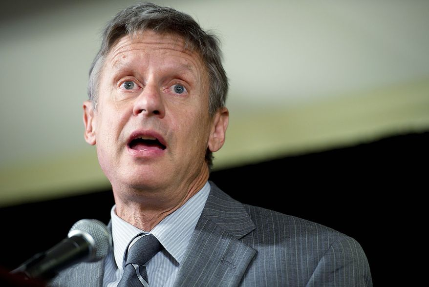 """""""I do have a resume that suggests that I am very credible,"""" says former New Mexico Gov. Gary Johnson. (Barbara Salisbury/The Washington Times)"""
