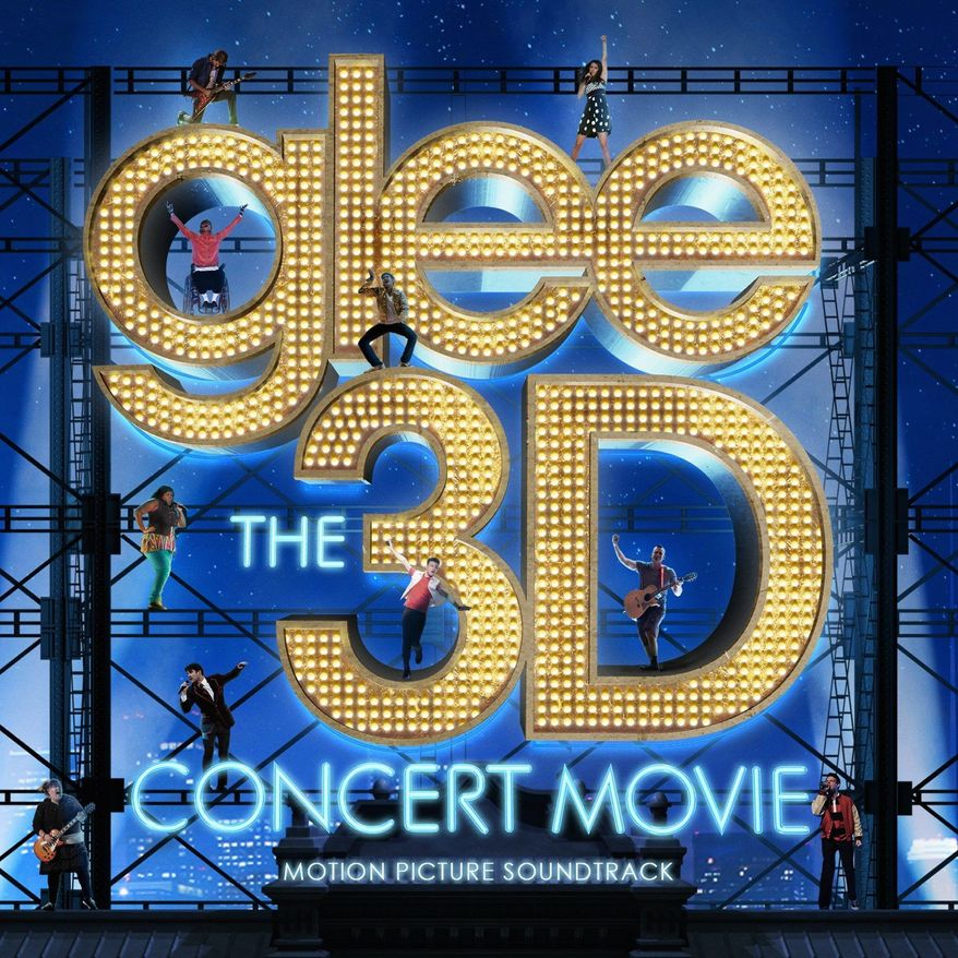 """CD cover for """"Glee The 3D Concert Movie"""" motion picture soundtrack."""