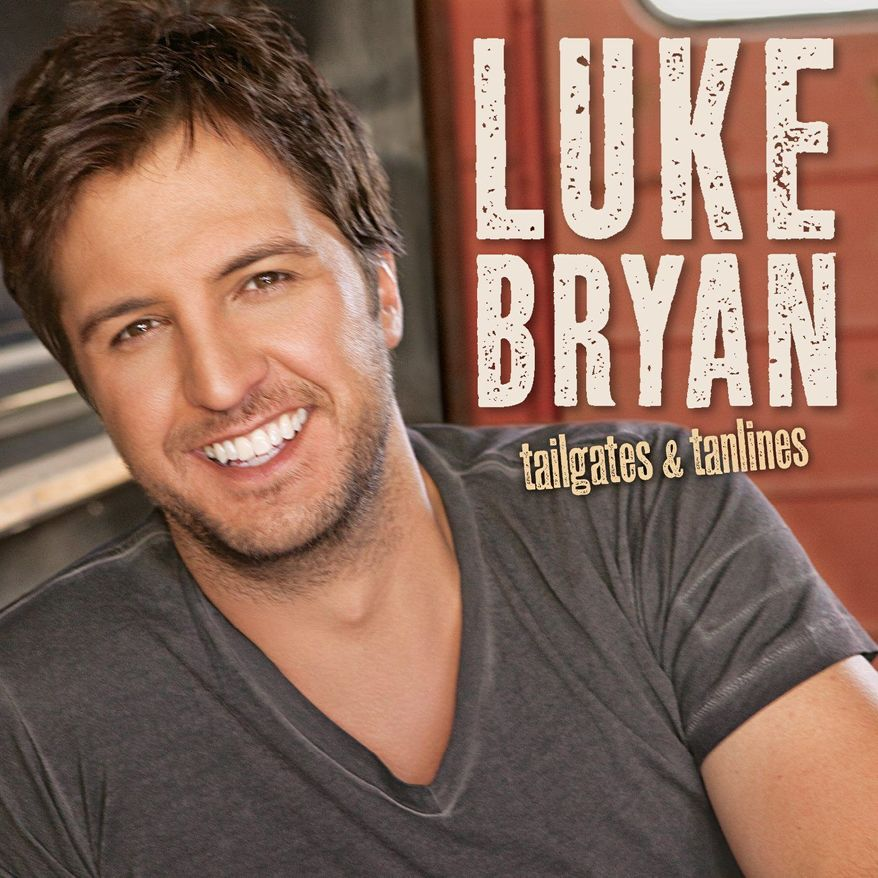 "In this CD cover image released by Capitol Records Nashville, the latest release by Luke Bryan, ""Tailgates & Tanlines,"" is shown. (AP Photo/Capitol Records Nashville)"
