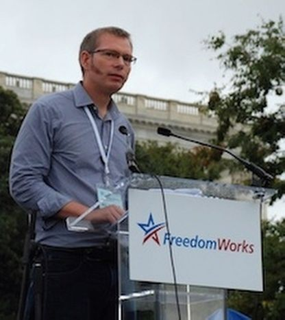 """FreedomWorks President Matt Kibbe's message to the White House: """"Time to get out of the tea party's way."""" (Photo provided by FreedomWorks)"""
