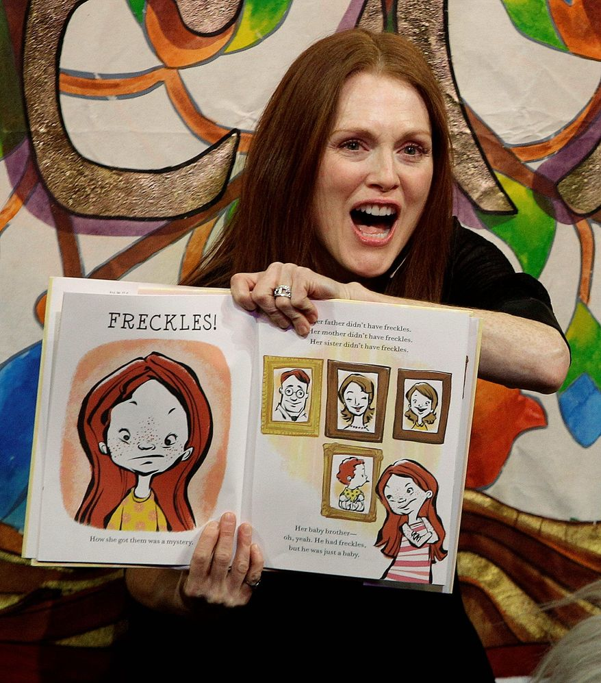 "ASSOCIATED PRESS Actress Julianne Moore will bring her ""Freckleface Strawberry"" series of children's books to the National Book Festival on the Mall next month."