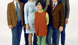 This late 1960s photo shows the Cowsills, a popular group of singing siblings and their mom. Surviving members of the group were to perform Wednesday in Providence, R.I., after the premiere of a documentary about the band.  THE COWSILLS VIA ASSOCIATED PRESS