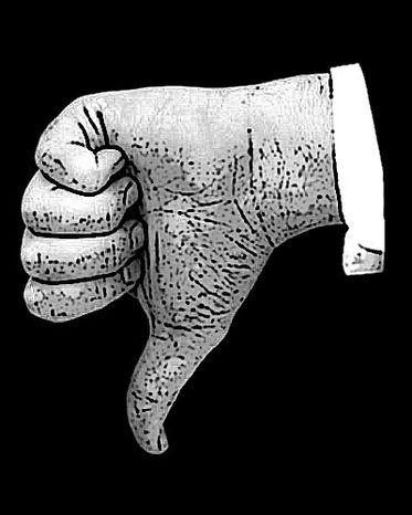 Illustration: Thumbs down