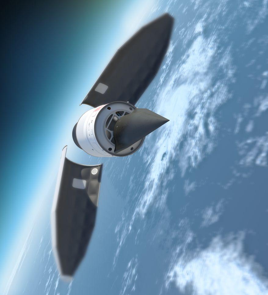 The Falcon HTV-2 aircraft (darpa.mil)