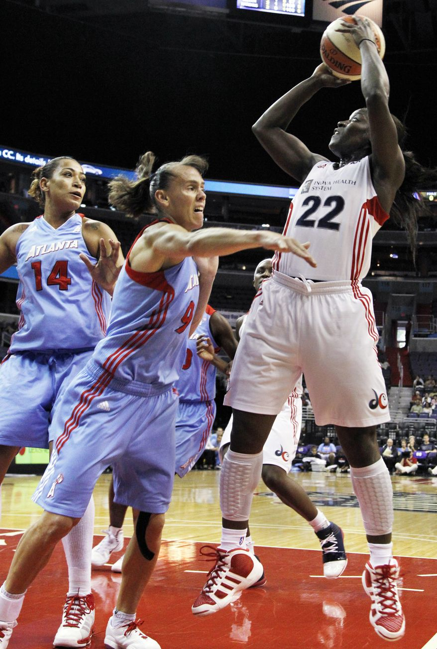 Washington Mystics' Matee Ajavon averaged 14.7 points per game last season and 3.1 assists. (AP Photo/Manuel Balce Ceneta)
