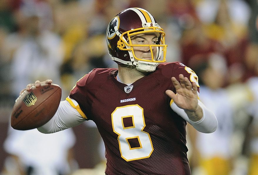 Washington Redskins quarterback went 19-for-26 and threw for 207 yards and a touchdown in Washington's preseason opener against the Pittsburgh Steelers on Friday. The Redskins won 16-7. (AP Photo/Nick Wass)