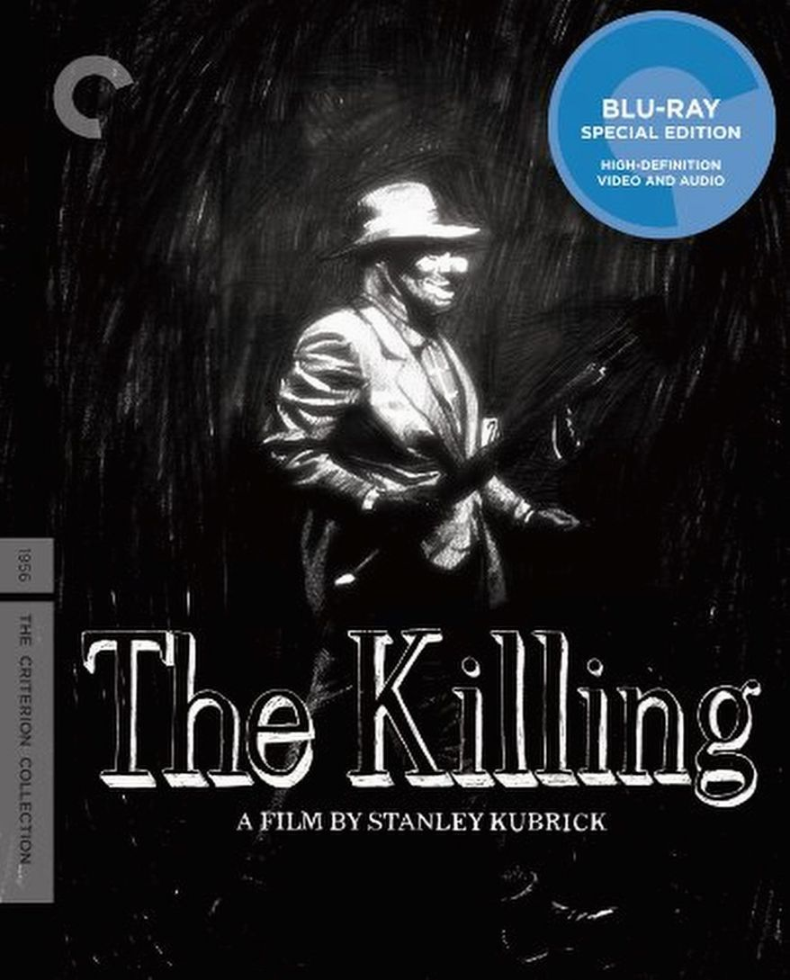"""DVD cover for the movie """"The Killing"""" released by The Criterion Collection."""