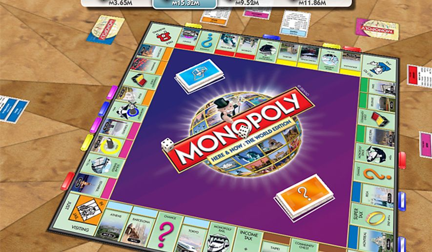 A virtual board loaded with famous cities for sale is found in the iPad game Monopoly: Here and Now, The World Edition HD.