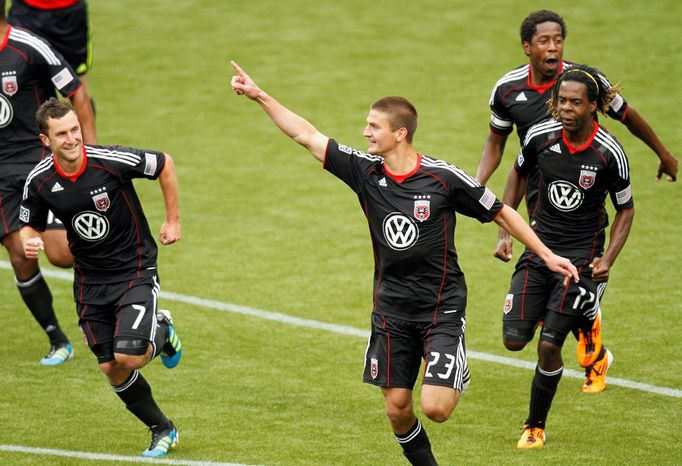 Stephen King's goal Saturday at home against Vancouver was his first in 30 games for D.C. (Associated Press)