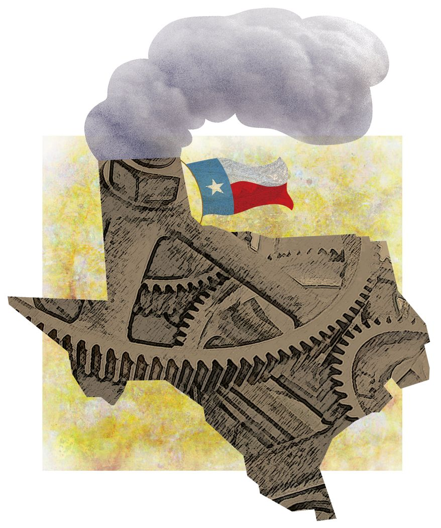 Illustration: Texas jobs by Greg Groesch for The Washington Times
