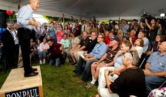 "Ron Paul speaks to several hundred people on Wednesday in Concord, N.H. ""We have a lot more supporters and a lot more organization,"" Mr. Paul said. ""I think the campaign team is a lot more sophisticated, and they know what to do out here."" (Associated Press)"