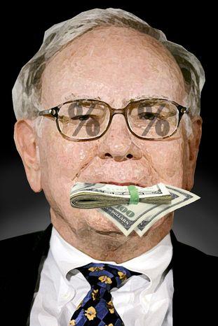 Warren Buffett (Illustration by Alexander Hunter for The Washington Times)