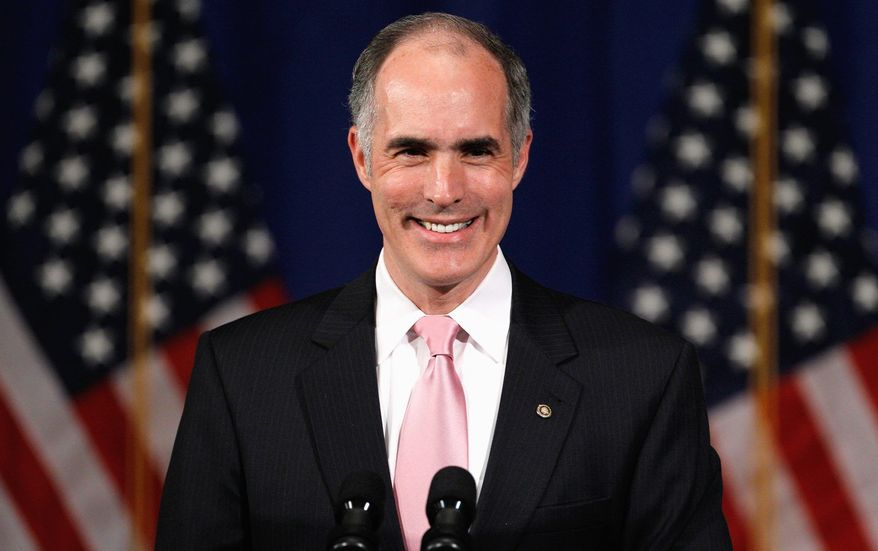 Sen. Robert P. Casey Jr., Pennsylvania Democrat, has plenty to smile about as re-election season approaches. Mr. Casey thus far has no Republican challenger to beat next year when he seeks a second six-year term as Pennsylvania's now-senior U.S. senator. (Associated Press)