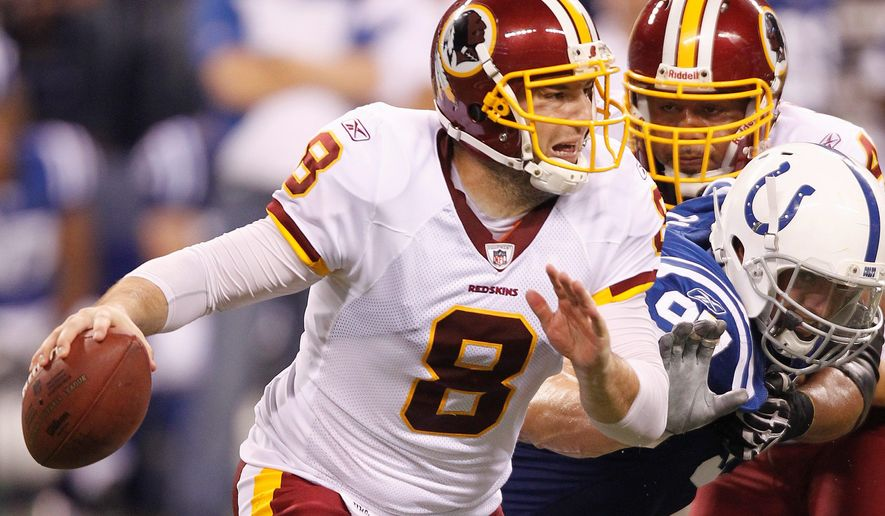 Washington Redskins quarterback Rex Grossman will get the start Thursday night against the Baltimore Ravens. (Associated Press)