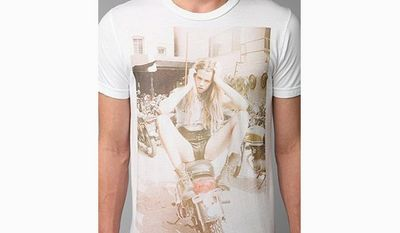 An Urban Outfitters T-shirt emblazoned with a controversial photo of model Hailey Clauson has resulted in a lawsuit against the apparel chain. (Urban Outfitters)