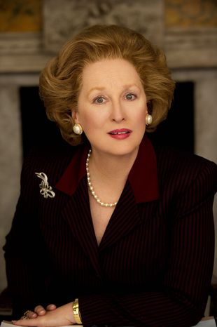 """Meryl Streep as Margaret Thatcher in """"The Iron Lady,"""" the 2011 biopic about the late British prime minister. (Pathe Productions Ltd.)"""