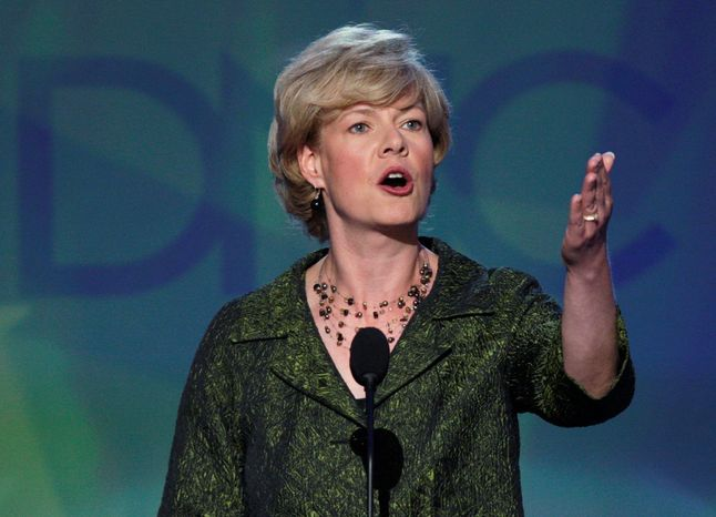 Rep. Tammy Baldwin, Wisconsin Democrat, appears to have an opening for the U.S. Senate primary now that former Sen. Russ Feingold has bowed out. (Associated Press)