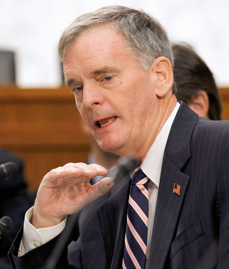 "Former Sen. Judd Gregg, New Hampshire Republican, said open meetings give too much ammunition to single-issue interest groups that ""have no interest in the national agenda of fiscal responsibility."" (Associated Press)"