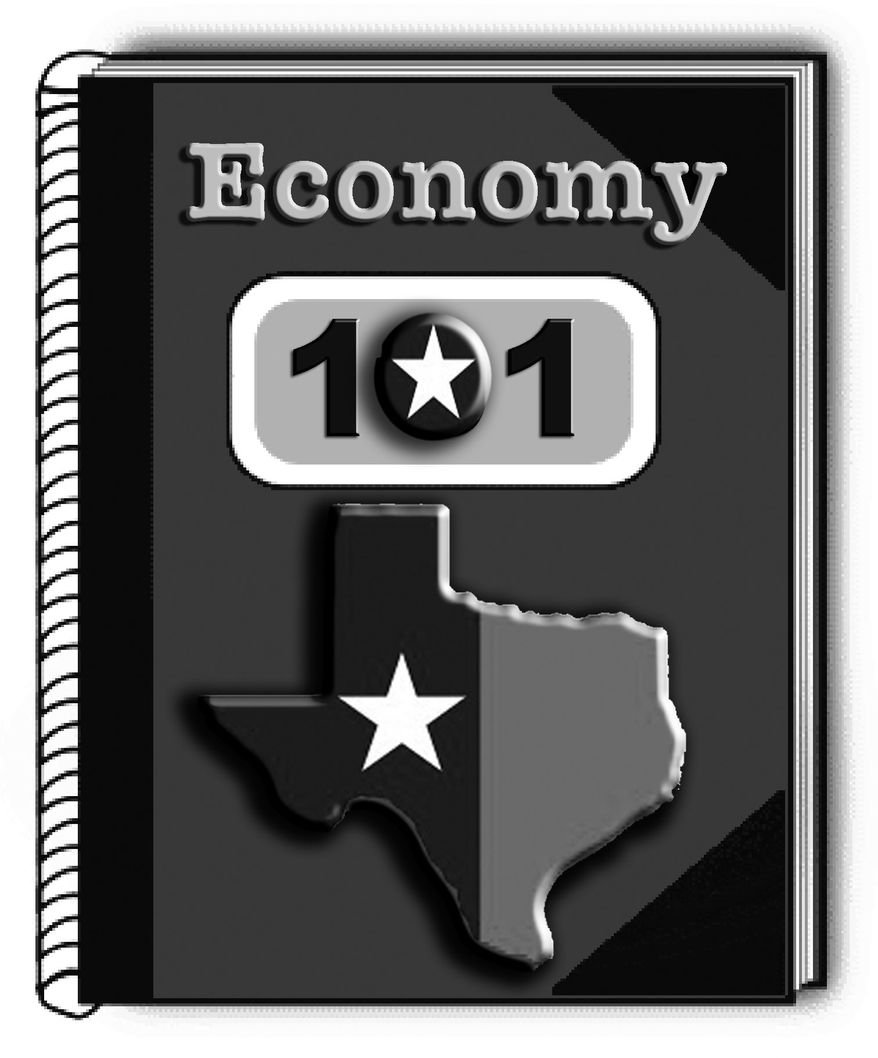Illustration: Texas economy by John Camejo for The Washington Times