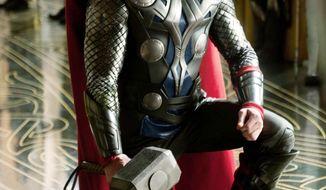 Chris Hemsworth as Thor. (Associated Press)