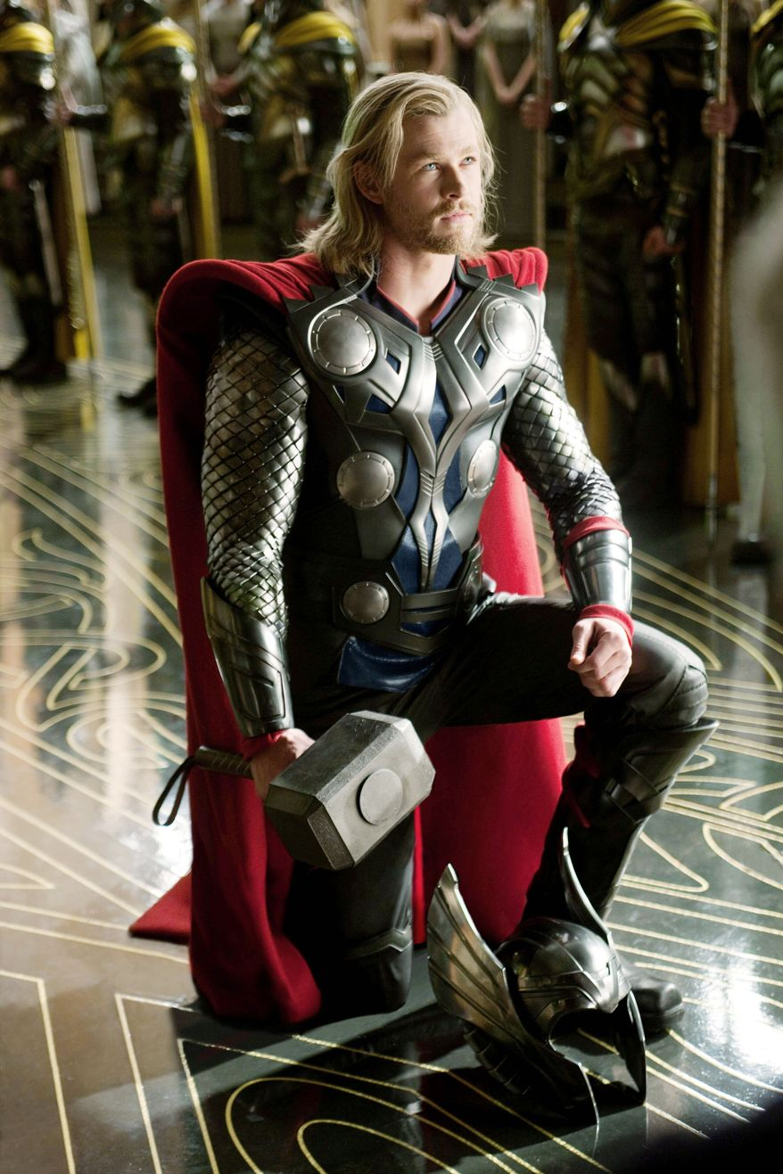 Chris Hemsworth as Thor. (Associated Press)