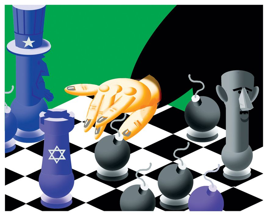Illustration: Chess by Alexander Hunter for The Washington Times