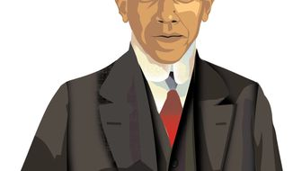 Illustration: Obama Hoover by Linas Garsys for The Washington Times
