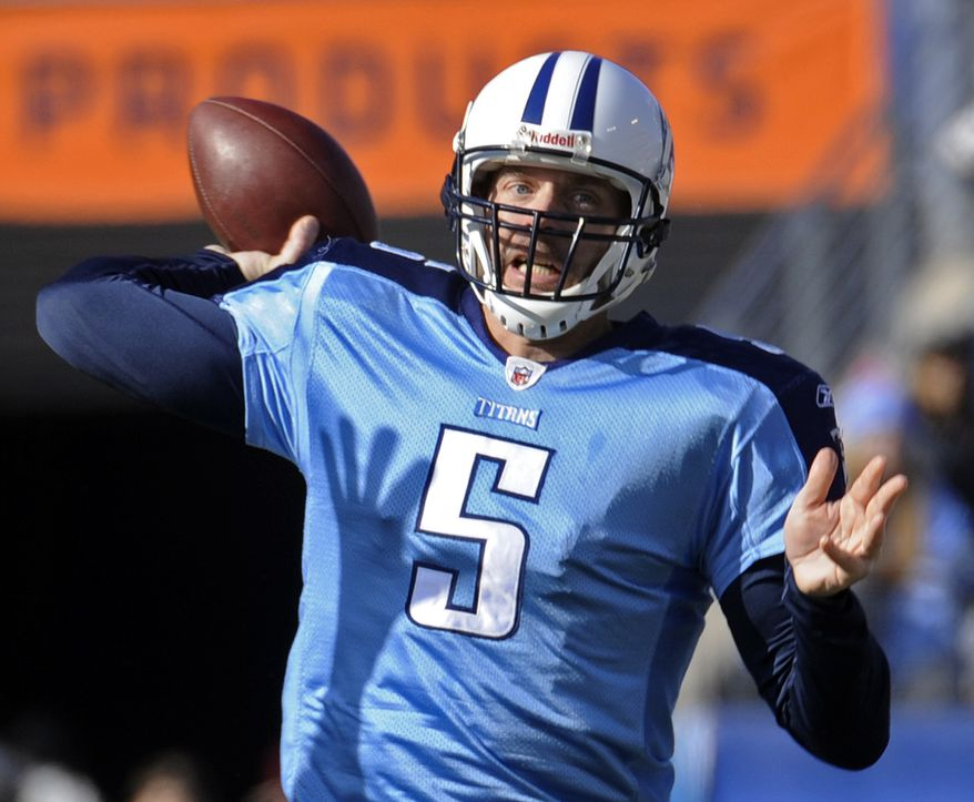 The Indianapolis Colts agreed to terms Wednesday with formerly retired quarterback Kerry Collins, making him the likely starter in case Peyton Manning isn't healed from offseason neck surgery by the season opener Sept. 11. (AP Photo/John Russell,File)