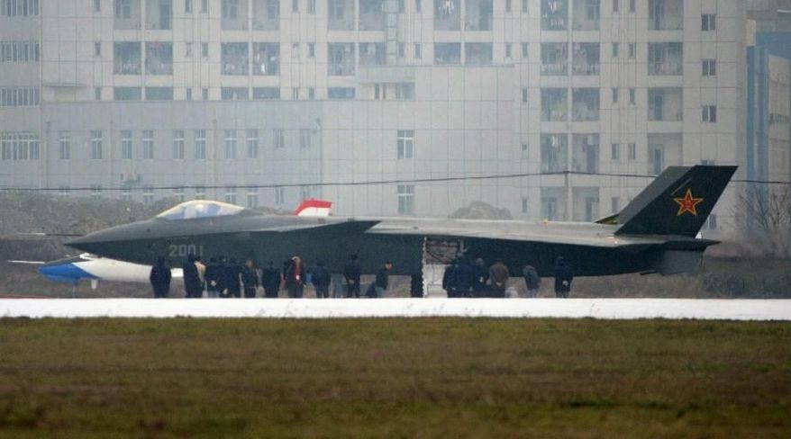 ** FILE ** China's military is seeking to purchase an unspecified large number of Russia's next-generation Saturn AL-117S jet engines, Russian officials are quoted as saying. The engines reportedly are used in at least one of the prototypes of the newest Chinese fighter, the stealth J-20 (pictured before a runway test in Chengdu, China, in January). (Kyodo News via Associated Press)