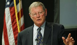 ** FILE ** Sen. James M. Inhofe, Oklahoma Republican (Associated Press)