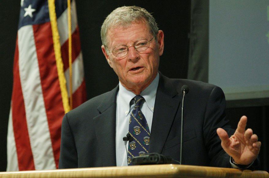 ** FILE ** Sen. James M. Inhofe, Oklahoma Republican (Associated Press)