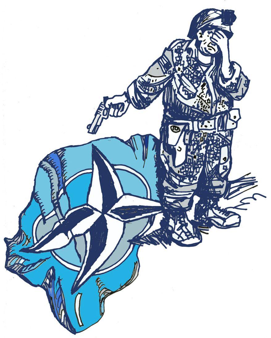 Illustration: NATO by John Camejo for The Washington Times