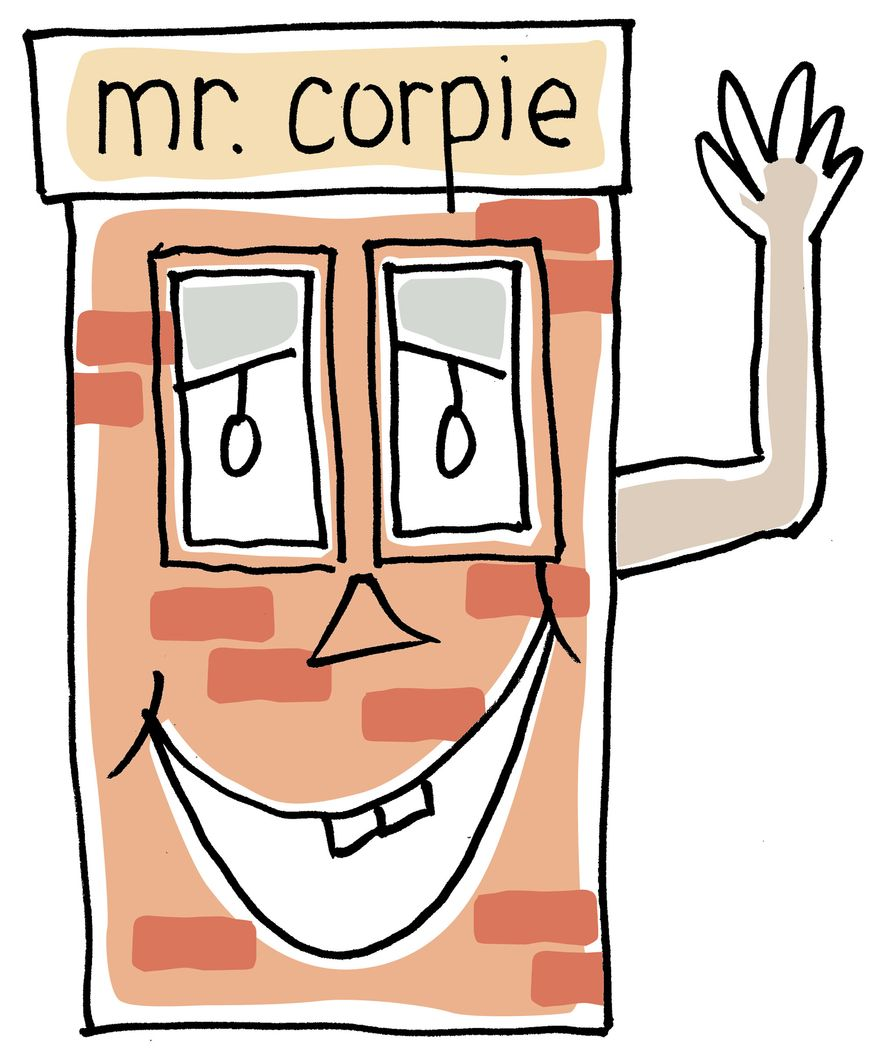 Illustration: Mr. Corpie by Greg Groesch for The Washington Times