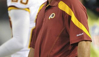 Washington Redskins head coach Mike Shanahan allowed No. 1 QB candidates John Beck and Rex Grossman to alternate every two series through the third quarter against the Baltimore Ravens on Thursday. Through three preseason games, however, nobody has run away with the opportunity yet. (AP Photo/Gail Burton)
