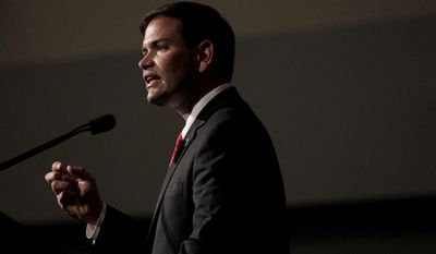 """""""The ideal is somebody that is beloved by the tea party who holds statewide office in a swing state and, oh, is Hispanic and young,"""" said Jennifer E. Duffy, of the Cook Political Report. """"He [Sen. Marco Rubio] pretty much fills that bill, doesn't he?"""" (Associated Press)"""