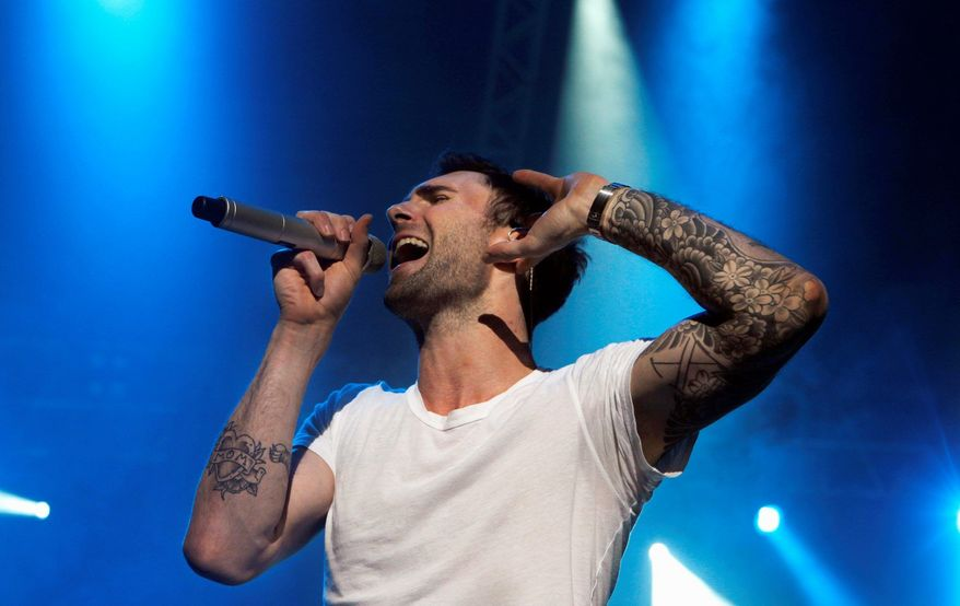 ** FILE ** Maroon 5 vocalist Adam Levine. (Associated Press)