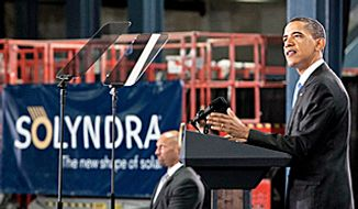 **FILE** President Obama speaks at Solyndra, Inc., in Fremont, Ca.
