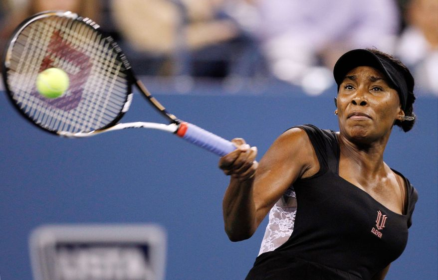 ASSOCIATED PRESS Venus Williams defeated Vesna Dolonts 6-4, 6-3 in the first round of the U.S. Open and was supposed to face 22nd-seeded Sabine Lisicki on Wednesday.