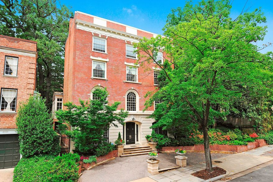 The home at 2329 California St. NW is on the market for $4,675,000. The four-story home, formerly the residence of the ambassador for the Organization of American States, was built in 1919.