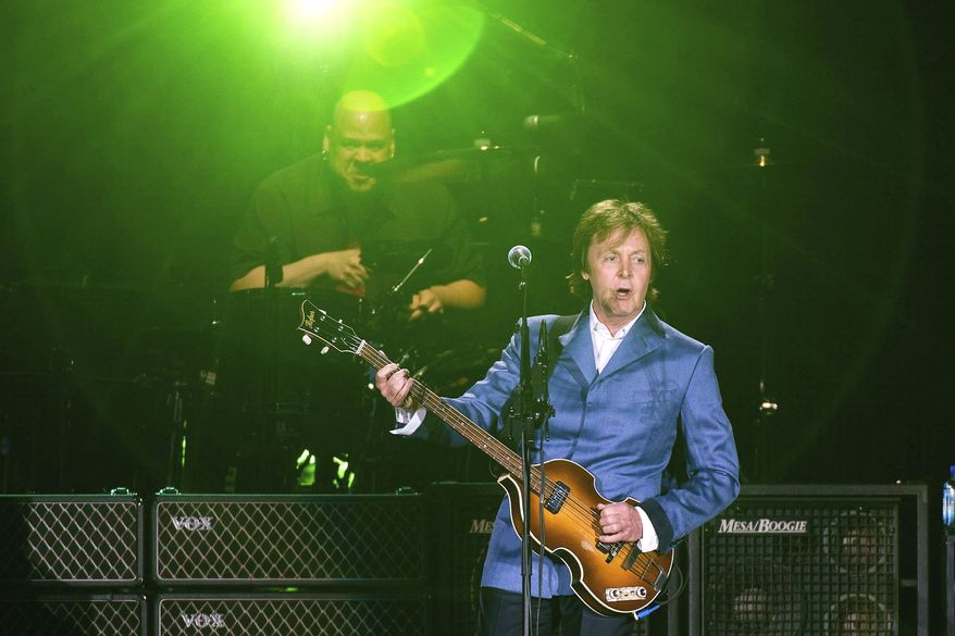 """Yankee Stadium in New York was a stop on former Beatle Paul McCartney's """"On the Run"""" tour in July. (Associated Press)"""