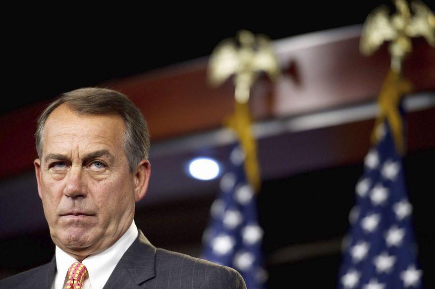 House Speaker John A. Boehner (Rod A. Lamkey/The Washington Times)