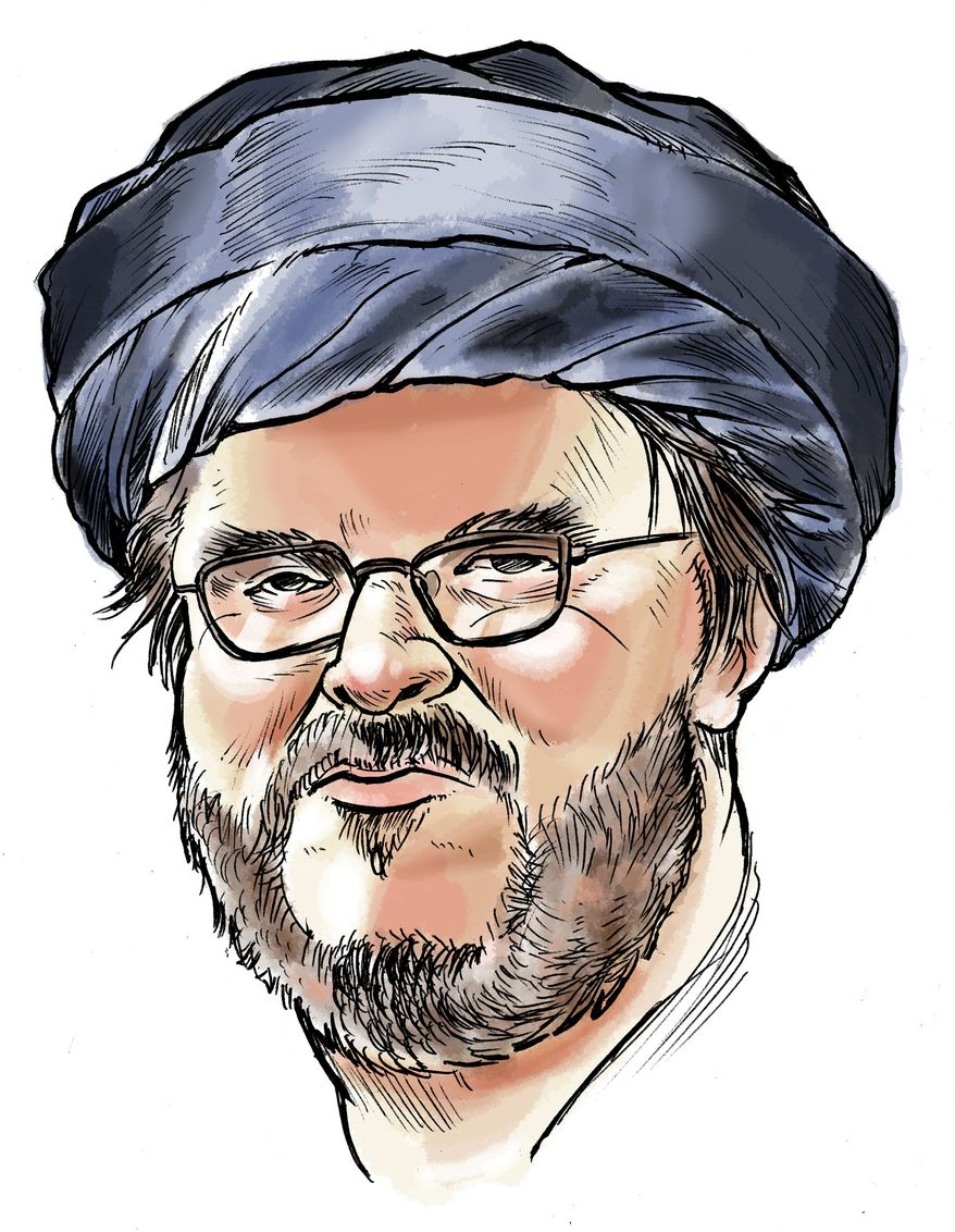 Illustration: Michael Moore by Linas Garsys for The Washington Times