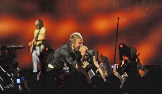Lifehouse, with singer Jason Wade, will perform a free postgame concert for D.C. area fans at Nationals Park on Saturday. (Associated Press)
