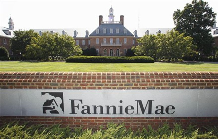 **FILE** Fannie Mae's headquarters are seen in Washington on Aug. 8, 2011. (Associated Press)