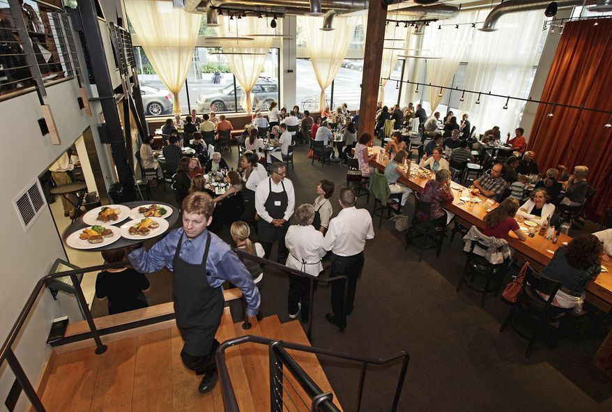 ASSOCIATED PRESS Dinner is being served in Seattle at FareStart, a program that teaches cooking and other skills that can lead to a career in the restaurant business. The students have troubled pasts and are seeking a new start.