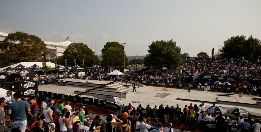 The skate park, located just outside of RFK Stadium, will remain a permanent fixture in the District. (Pratik Shah/The Washington Times)