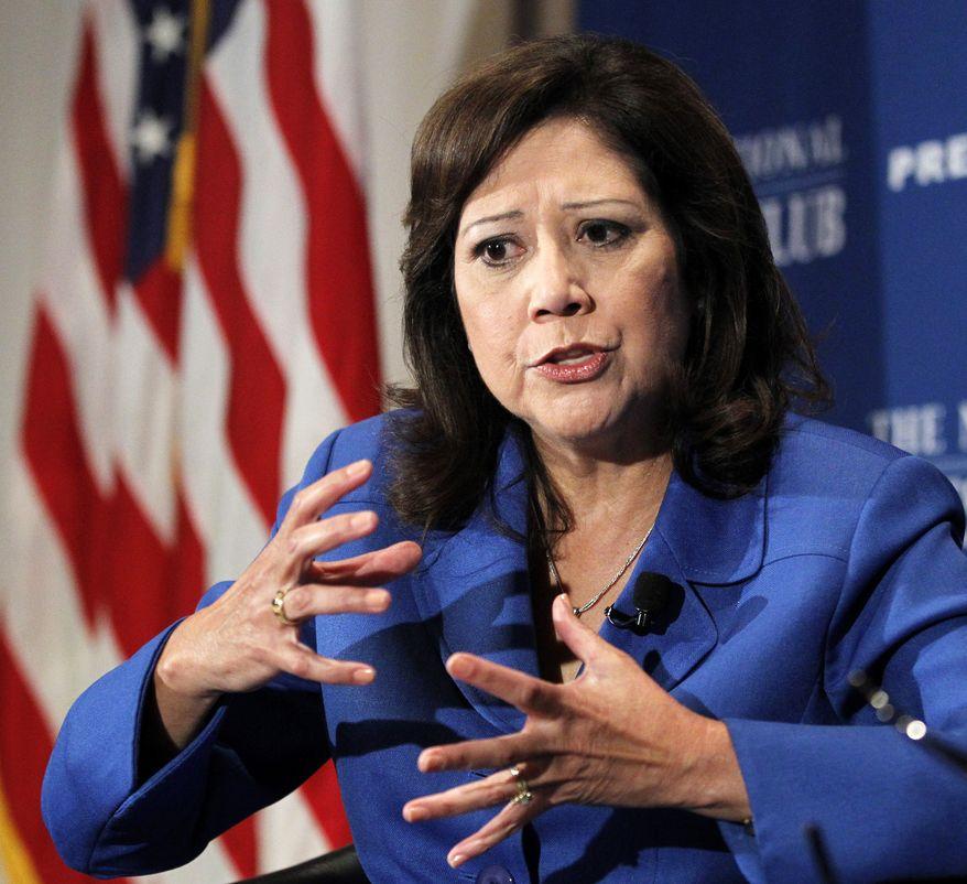 Labor Secretary Hilda L. Solis (AP Photo/Manuel Balce Ceneta)