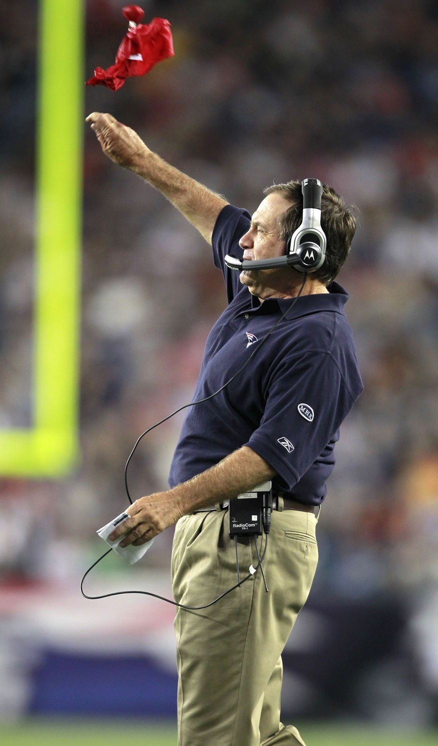 associated press Bill Belichich brings his Patriots to town Dec. 11 to challenge his friend Mike Shanahan.